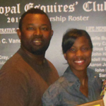 Bertram Williams Scholarship recipient Shanteria Wright, left, and her father, Shelton Wright