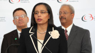 CBCF President/CEO Shuanise Washington announce historic deposit in Black-owned banks. Photo/Rodney L. Minor/BRTV.