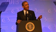 President Obama speaks to the CBCF Annual Phoenix Awards Dinner Saturday night. Photo/Roy Lewis/Trice Edney News Wire.