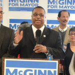 King County Councilmember Larry Gossett announces his support for Mike McGinn.