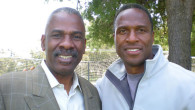 Attorney Everett Glenn with former client Willie Gault, who played 11 years with the Chicago Bears and the Oakland Raiders.