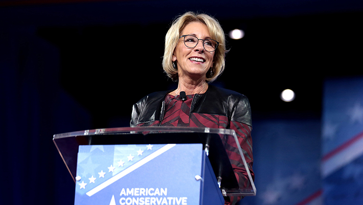 Watch Betsy DeVos dodge question about protecting LGBTI students from discrimination