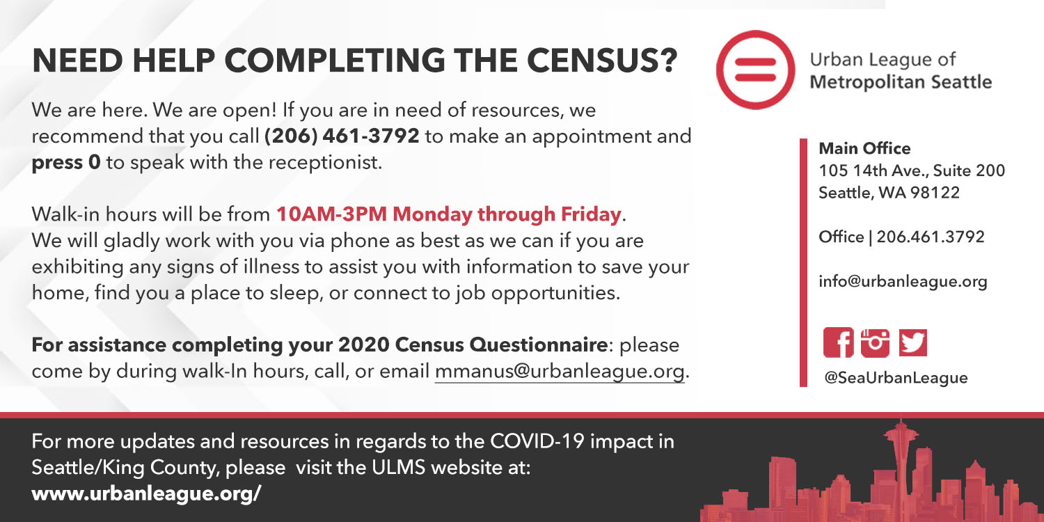 Urban League Seattle - Help with Census 2020