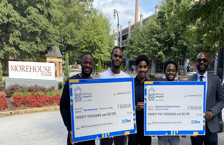 Morehouse College Students Wins $20K First Place Prize At Zillow's HBCU Hackathon Competition